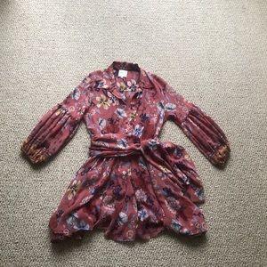Misa Los Angeles Flora button Front mini dress